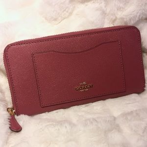 Coach Wallet Leather Accordion Zip F54007 Rouge
